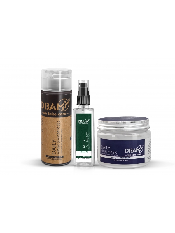 DBAMY Hair Kit with Almond Oil Serum